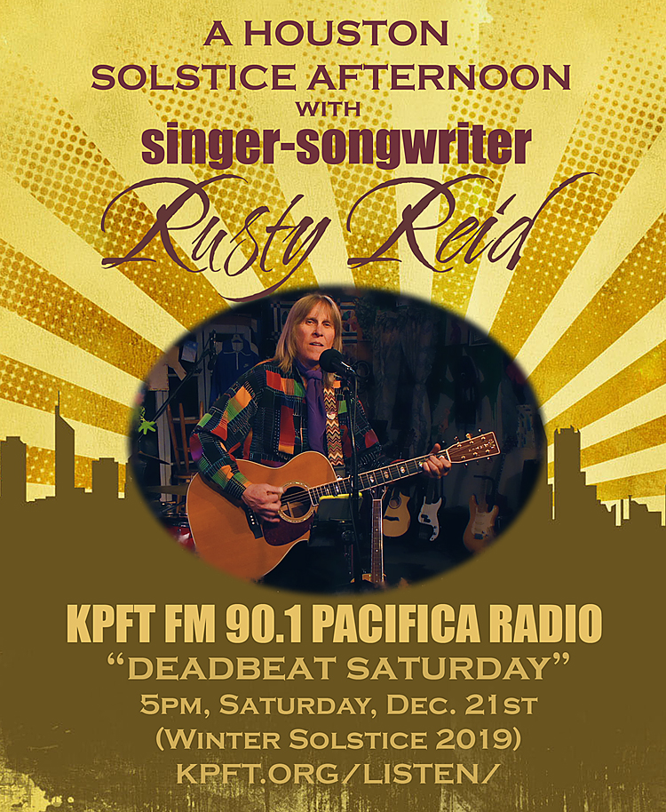 Rusty Reid, Houston KPFT Pacifica FM Live Performance and Interview