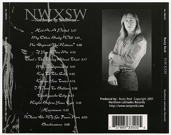NWXSW - Album by Rusty Reid, original music, singer